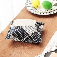 Hogar Vintage patrones de tejido organizador, caja, contenedor de algodón toalla de lino servilletas de papel bolsa de caja del sostenedor de la caja de la bolsa decoración de la Mesa
