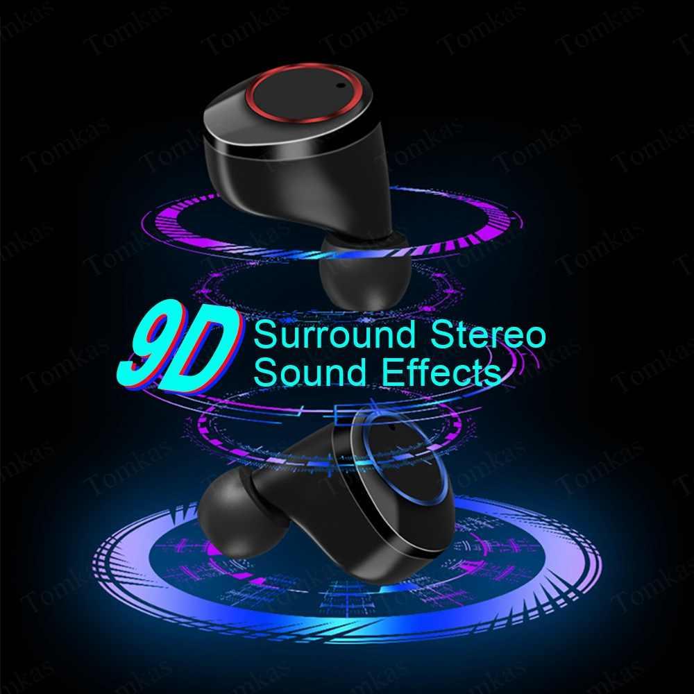 ワイヤレスイヤホンの Bluetooth 5.0 イヤホンスポーツ 4000 2600mah のパワー表示タッチ制御 9D ステレオコードレスヘッドセットフィットネス機器
