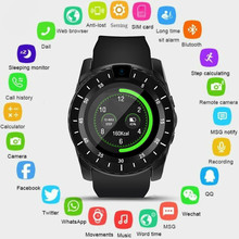 V8S Bluetooth Touch Screen Smart Watch Pedometer Sport Bracelet Support TF SIM Card Remote Camera Smartwatch For Android IOS 1YW цена и фото