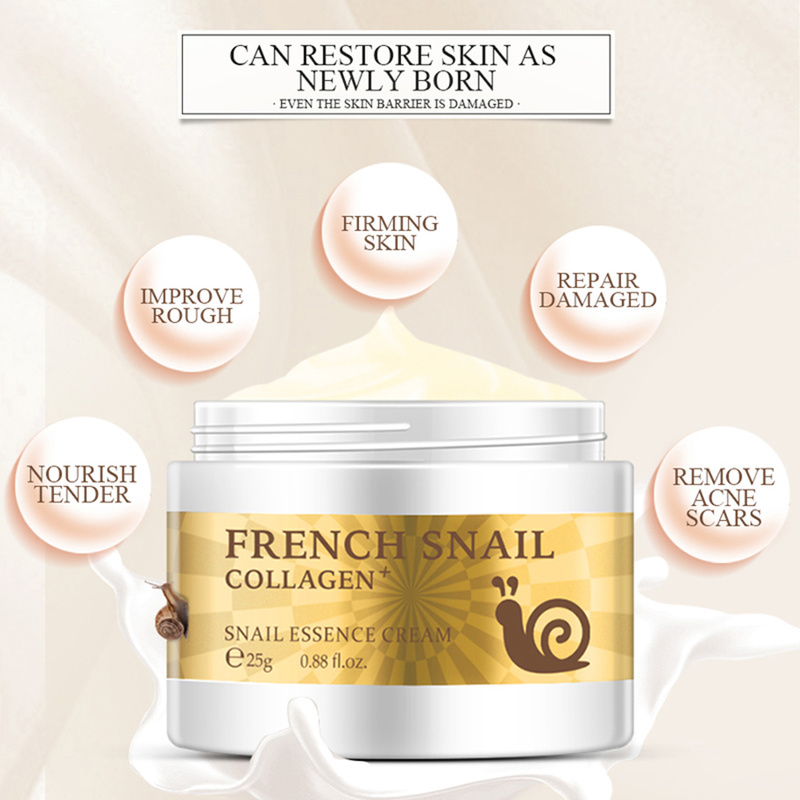 Snail Face Cream Hyaluronic Acid Anti-Wrinkle Anti-aging Day Cream Collagen Moisturizer Nourishing Tight Skin Serum Care TSLM1