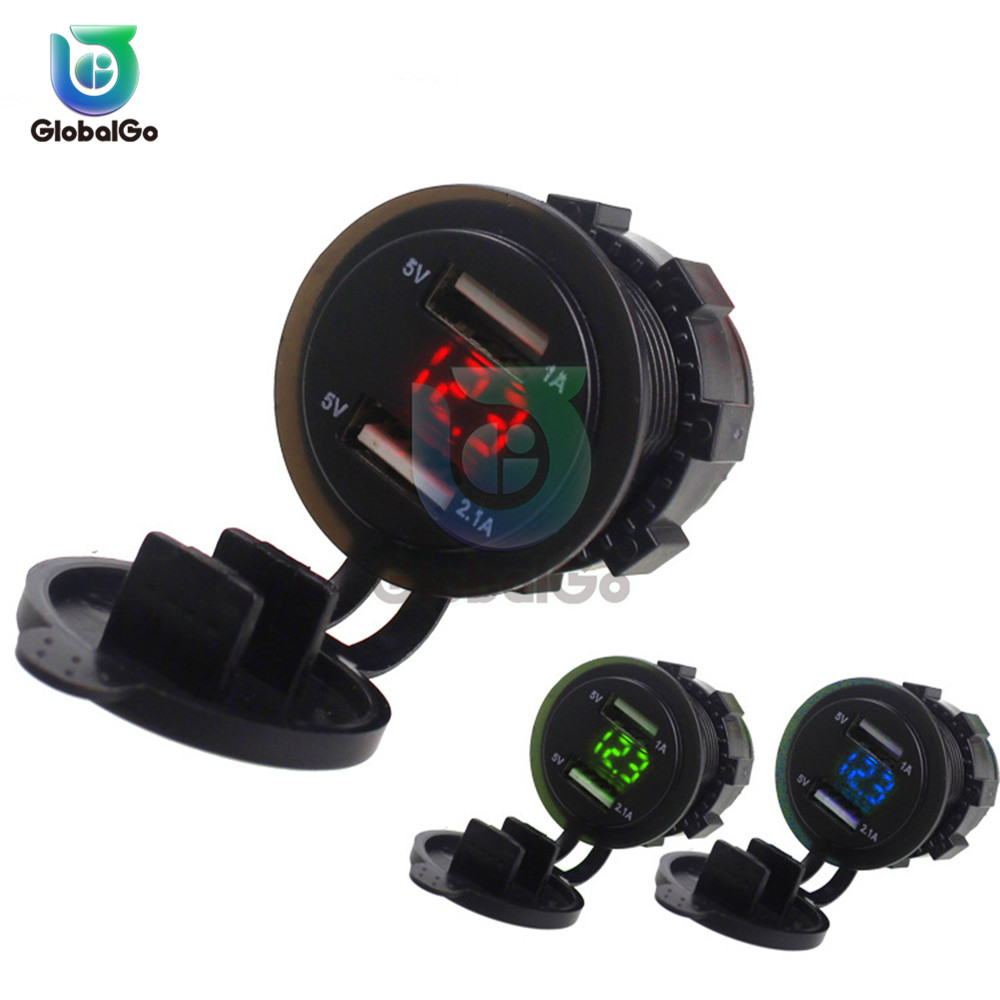 Dual USB 5V 9V 12V 24V Voltage Charger Tester USB Charger Doctor Meter Test Voltmeter For Mobile Phone Tablet Camera Charging