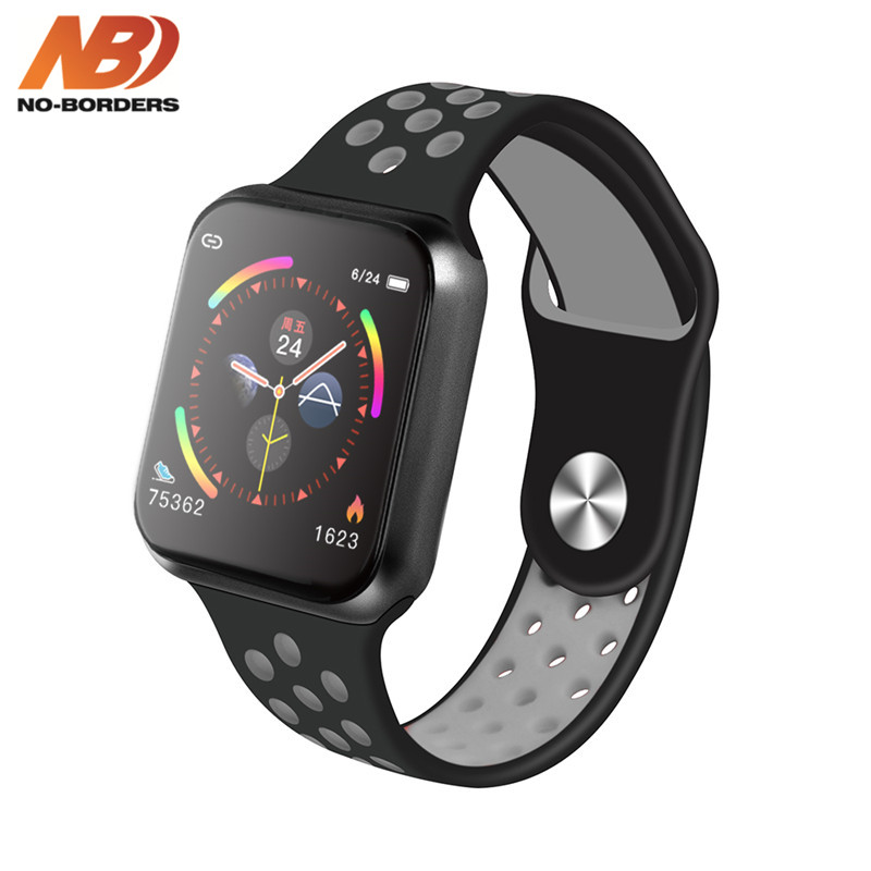 NO-BORDERS F9 Sport Smart Watch IP67 Waterproof Heart rate Full Touch Screen Smartwatch for Apple Android Watch PK F8 w34 iwo 8 1