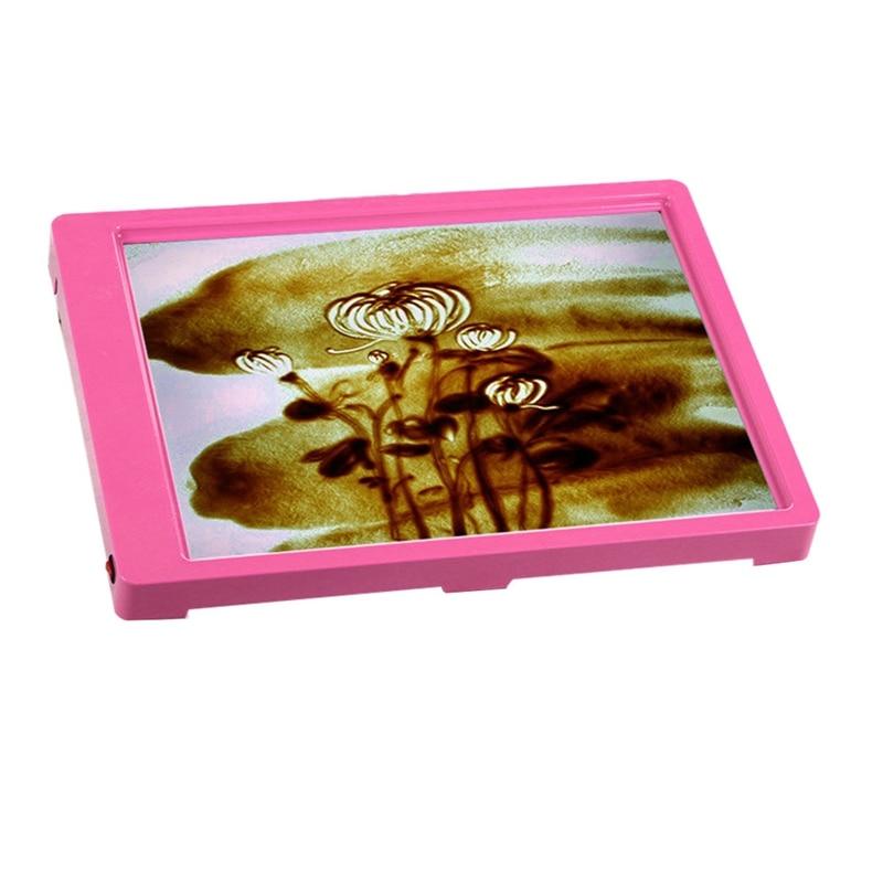 Детские головоломки креативные DIY песок живопись искусство креативные игрушки для рисования доска для катания на песке для детей случайный цвет