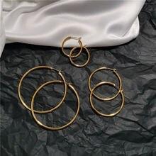 Кольцо серьги  кольца дикие преувеличенные простые золото красное