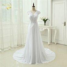 2016 New arrival Wedding Dress Elegant Applique Chiffon Beading Vestidos De Novia Plus Size Beach Bridal Gowns 399390UJL