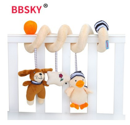 Cute Duck Puppy Bed Around Toy With Musical Core Sound Making Of BB Called Crib Trailer Hanging Toy