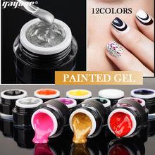 Yayoge Рисование УФ гель краска для ногтей Цветной Гель лак