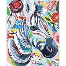 Diy Краска по номерам животное лошадь окраска ручная краска