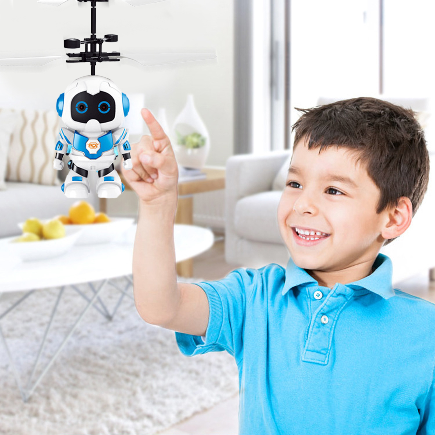 Funny Astronaut Style Mini Infrared Induction Flying Ball Aircraft Helicopter Toy With LED Light For Boys Girls Teenagers Gifts