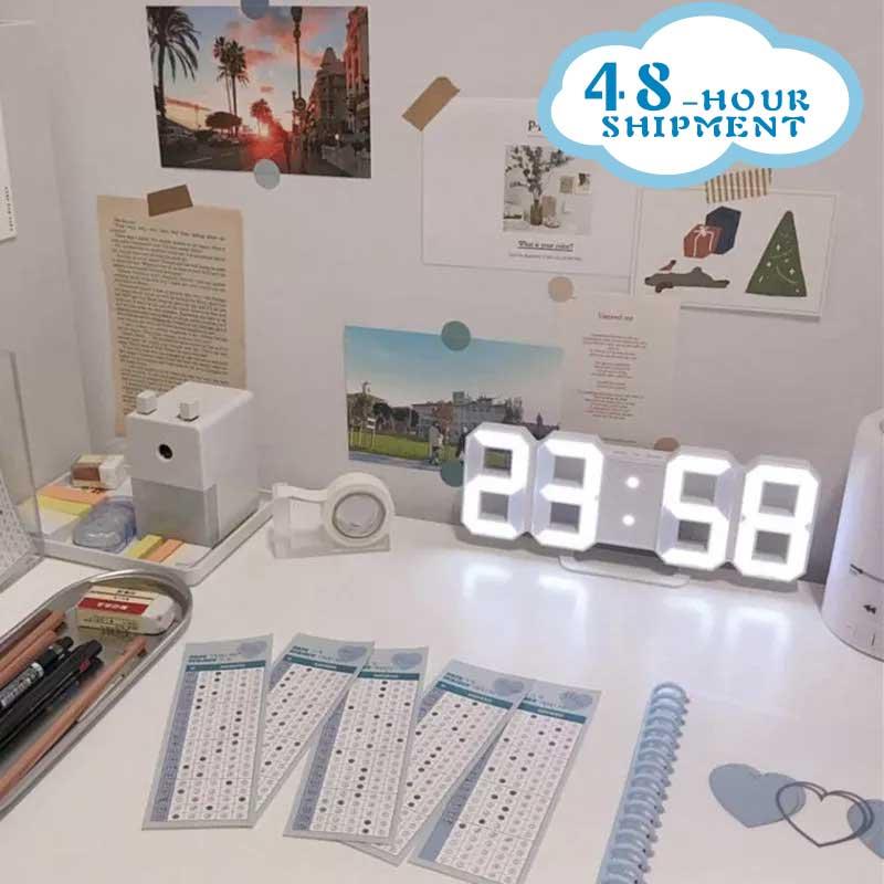 Nordique horloge numérique horloge numérique murale led montre Snooze fonction horloge bureau calendrier thermomètre affichage bureau électronique montre
