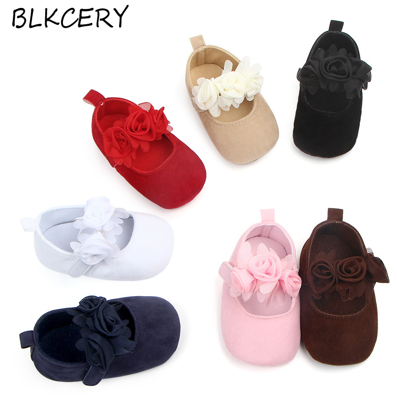 Baby Girls Crib Shoes Newborn First Steps Slippers Toddler Flower Loafers Infant Tenis for 1 Year Old Footwear Doll Shoe Gifts