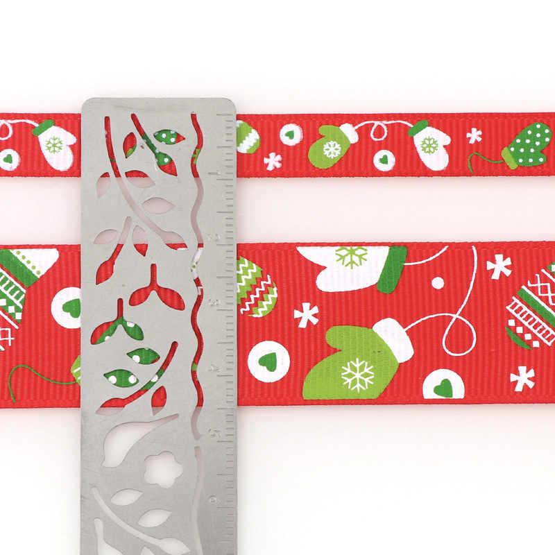 פוליאסטר הדפסת חג המולד מבהיקי סרטי DIY חג המולד המפלגה גלישת דקור אספקת חומר 5 מטרים 10/25mm
