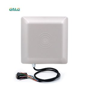 Image 2 - Avec 2 étiquettes UHF en pvc, portée de lecture maximale de 7m, lecteur uhf passif rfid longue portée WG26/lecteur de contrôle RFID