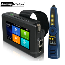 IPC 1800SN 4 بوصة 4K H265 IP فاحص الكاميرا 8MP AHD TVI CVI CVBS CCTV تستر مراقب مع PTZ التحكم السريع ONVIF IPC تستر POE
