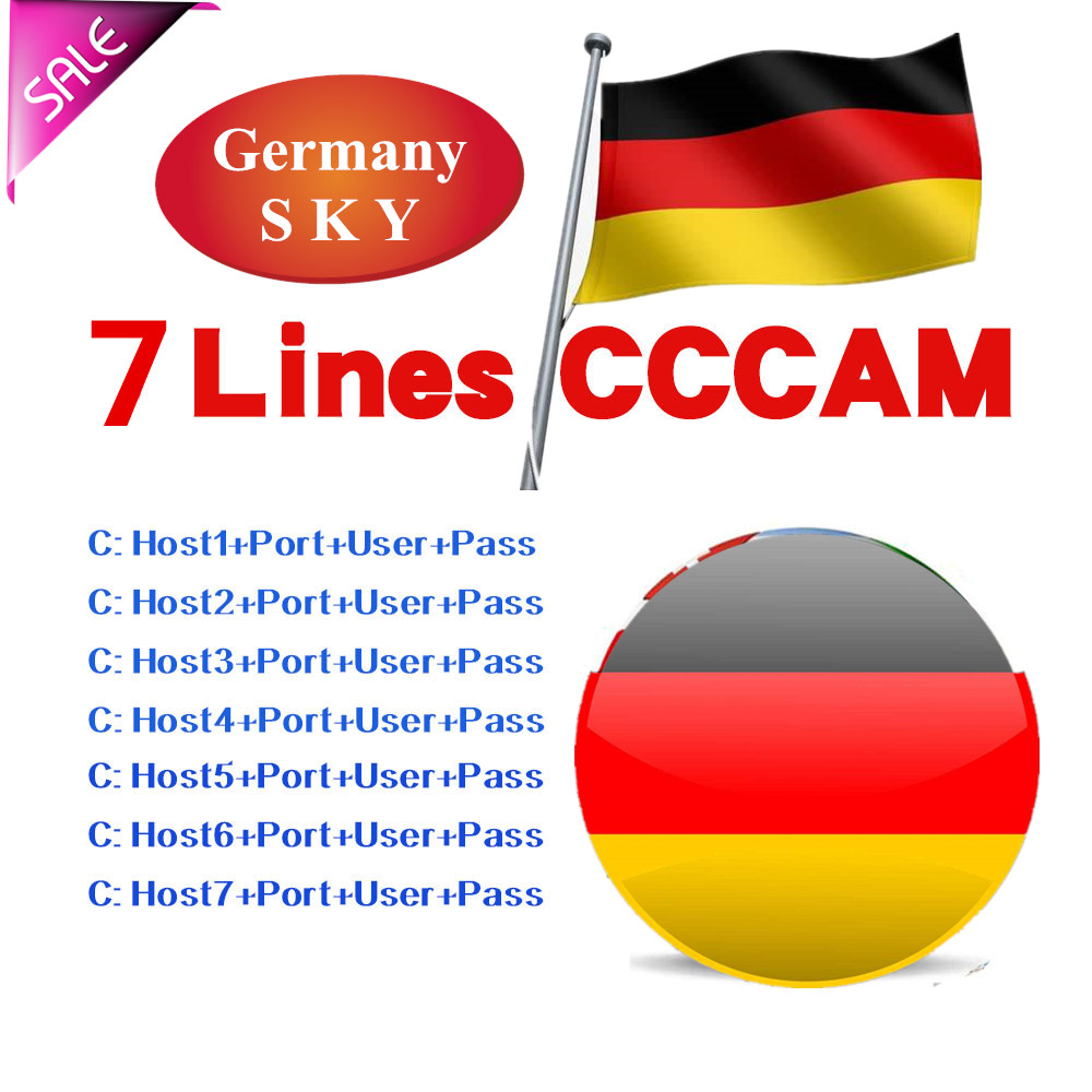Cccam 7 Lines Full HD 1 Year Germany SKY Oscam Cccam Cline For Europe 7 Lines Use For Satellite TV Receiver DVB-S2 Server Hd