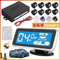 Monitor LED, Sensor electromagnético de estacionamiento, 8 vehículos, Sensor de estacionamiento frontal Parktronic, Detector de retroiluminación de movimiento para estacionamiento de coches