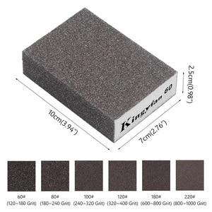 Зернистость 120, 180, 240, 320, 600, 1000, губка для шлифовки стен, наждачная бумага, модель для крафта, полированный песок, кирпич, кухонный очиститель