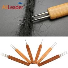 Alileader бамбук вязание крючком крючок 1% 2F2% 2F3 нержавеющая сталь головка крючка вязание крючком крючок иглы для изготовления парик шапка дреды парик плетение инструмент