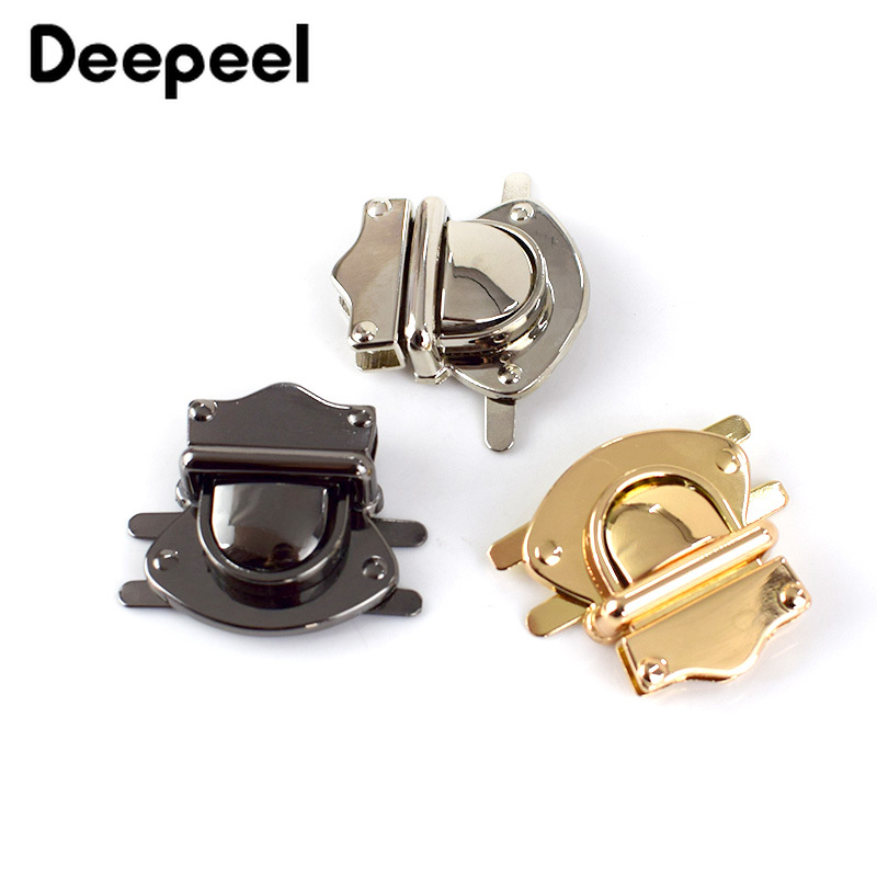 Deepeel 2pcs Metal Bag Lock Buckle Duck Tongue Wallet Clasp DIY Bags Lock Leather Crafts Hardware Accessories BF023