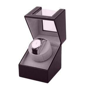 Image 3 - Storage Organizer Display Casket Motor Shaker Holder Automatic Mechanical Watch Winder Box Winding Case Holder