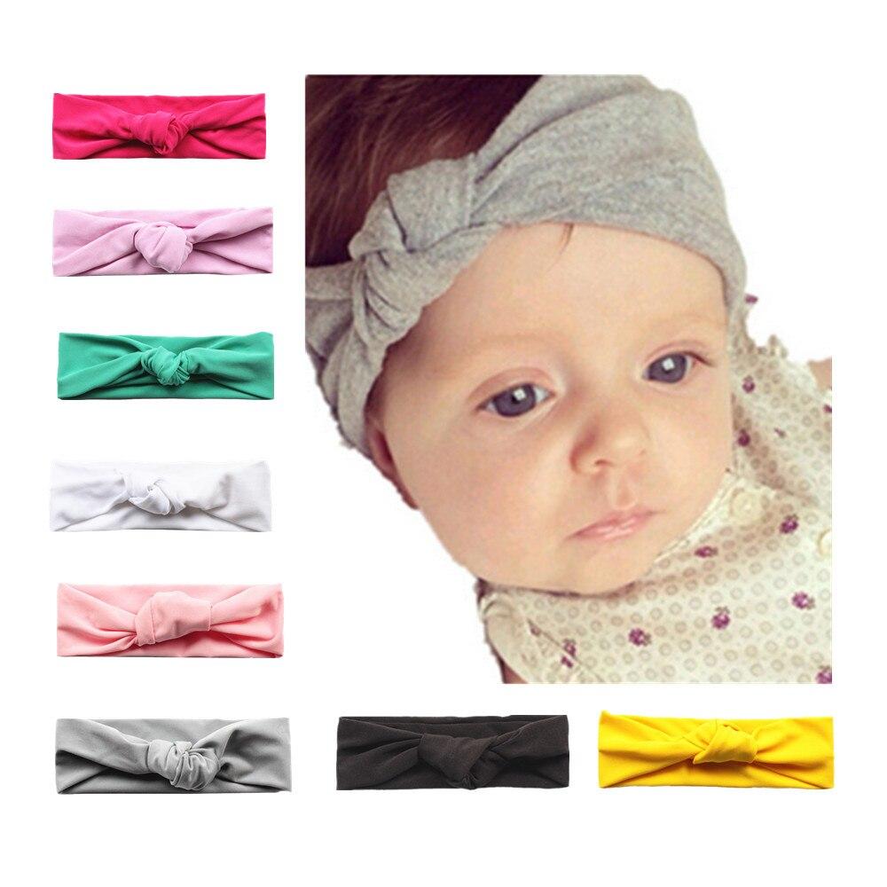 Baby Toddler Girls Turban Knot Cotton Headbands Head Wear Turban Knot Headband