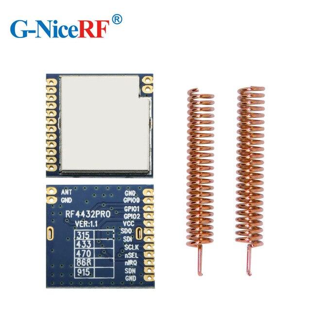 2 قطعة/الوحدة RF4432PRO 100mW Si4432 FSK/ GFSK جزءا لا يتجزأ من مكافحة التدخل 433 ميجا هرتز بيانات لاسلكية مثبت جهاز إرسال واستقبال