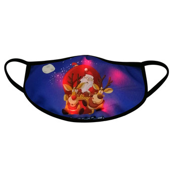 Hot Sale 3PCS LED Christmas Mask Light Up Mask Christmas Glowing Masks For Men And Women Windproof Breathable Earloop Masks#BL5 image