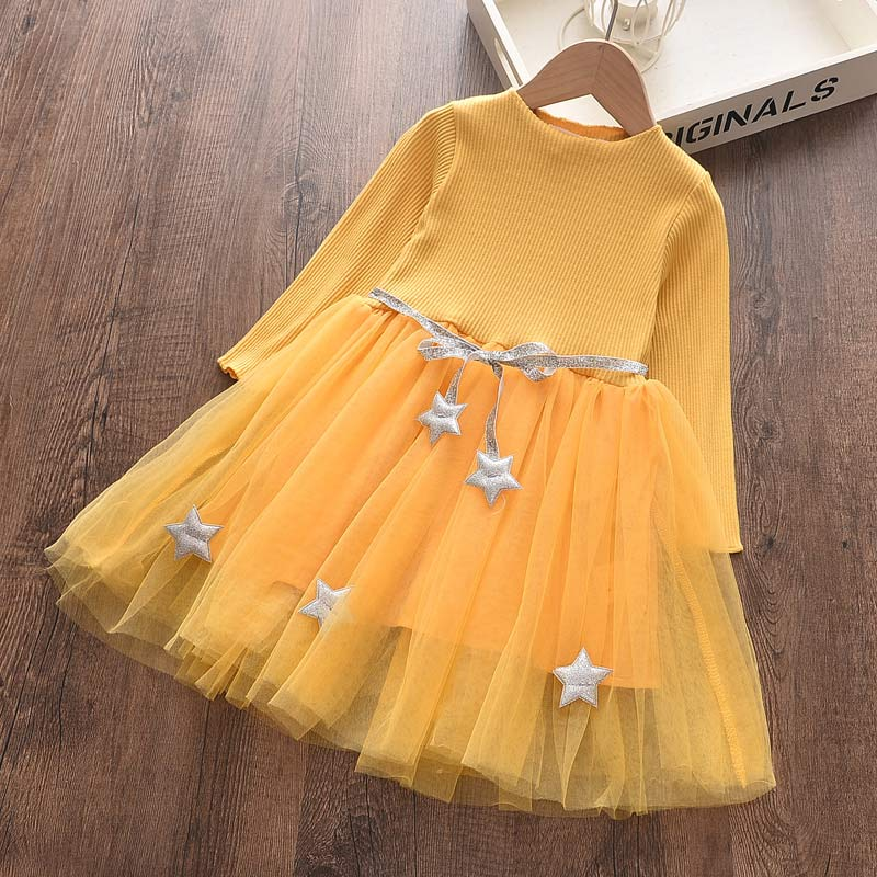 Bear Leader Girls Dresses Spring New Baby Girl Dress Striped with Bow Long Sleeves Princess Dress for Girl Kids Clothes Vestidos 3