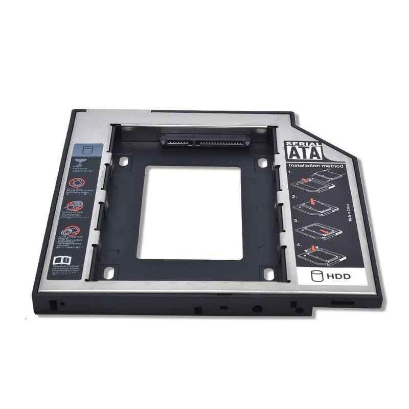 """2nd HDD Caddy 9.5mm SATA do SATA 3.0 dla 2.5 """"2 TB obudowa na SSD dysk twardy HDD obudowa do laptop ODD DVD-ROM DVD-ROM Optical bay"""