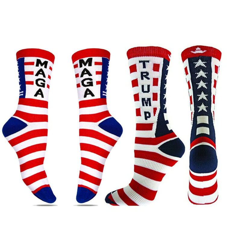 Goocheer 2019 NEW Socks Donald Trump MAGA General Election Stars Striped Casual Unisex Stocking