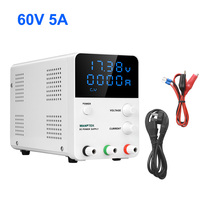 Switched 60v 5a Regulated Laboratory Power Supply DC Regulable Adjustable Source Bench Variable For Phone PC Four Digit Display