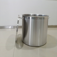 17 115LPremium Commercial Deep Stainless Steel Stock Pot Casserole Catering Stew Soup Boiling Pan Soup Bucket With Lid handles