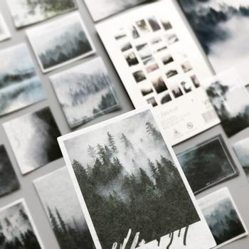 50pcs/set Fog Forest Sticker Journal Decorative Label Diary Stationary Deco Photograph Album Flake Scrapbooking