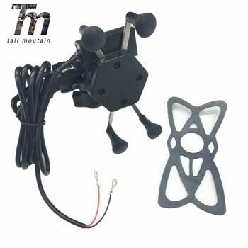 Montura Universal para motocicleta montura para teléfono móvil soporte X abrazadera de...