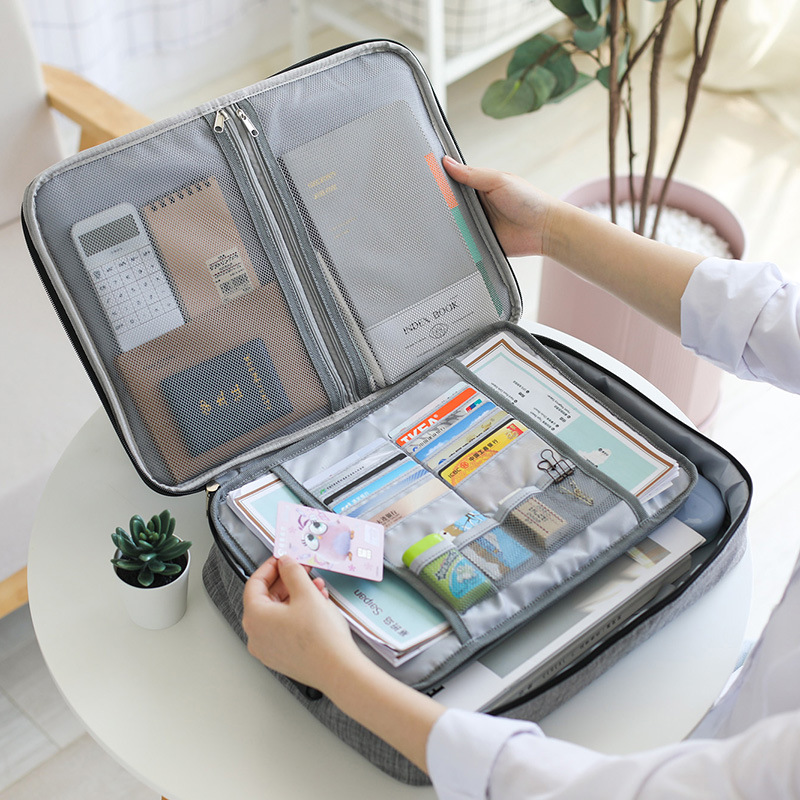 Big Capacity Men Document Bag Travel Man Waterproof Handbag Office Organizer Business Briefcase File Zipper Pouch Accessories
