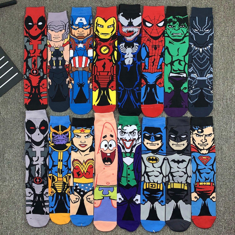 Носки мужские/женские до колен с принтом Marvel Sonic, повседневные носки для косплея в стиле хип-хоп для взрослых, 1 пара, 2020