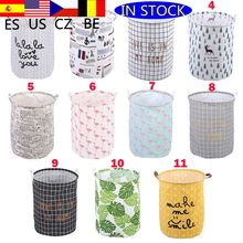 Waterproof Folding Clothrt Dirty Clothes Toys Storage Bucket Laundry Basket Washing hamper With Handle For Bathroom Household1pc