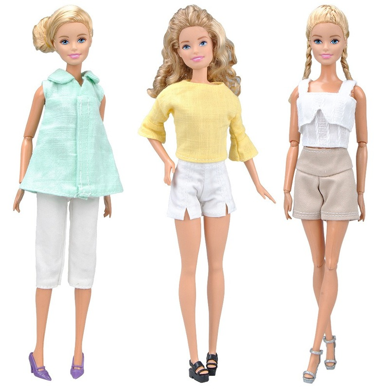 New Doll Clothes Dress Up Suit casual outfit Fashion Apparel for Barbie Doll Accessories Kid Girl Toy|Dolls| - AliExpress