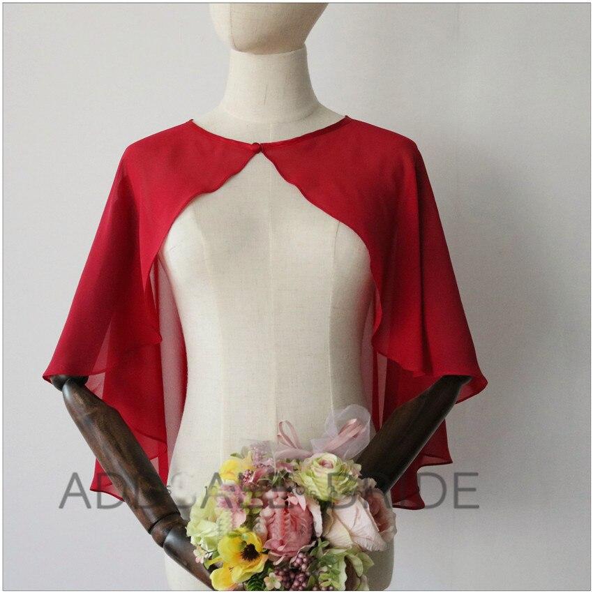 2020 Elegant Evening Bolero for Woman High Low Bridal Wraps Chiffon Jackets