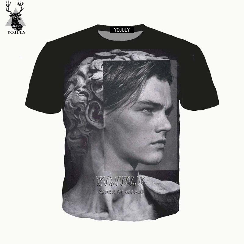 YOJULY 3D Print Men Women David Statu Leonardo DiCaprio Tshirt T-shirt/Sweatshirt/Hooded hoodies/Zipper Jacket Streetwear  A725