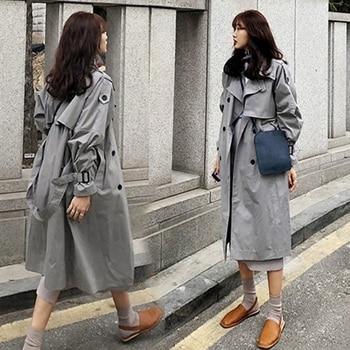 2021 fashion brand female long trench coat and jackets large size women s spring raincoat
