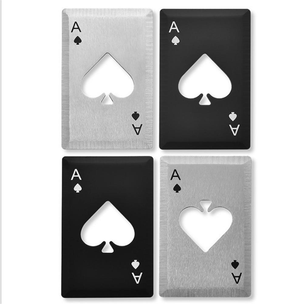 Stainless Steel Spade A Bottle Opener Poker-Shaped Bottle Opener Playing CARDS Beer Bottle Opener For Throwing And Cutting