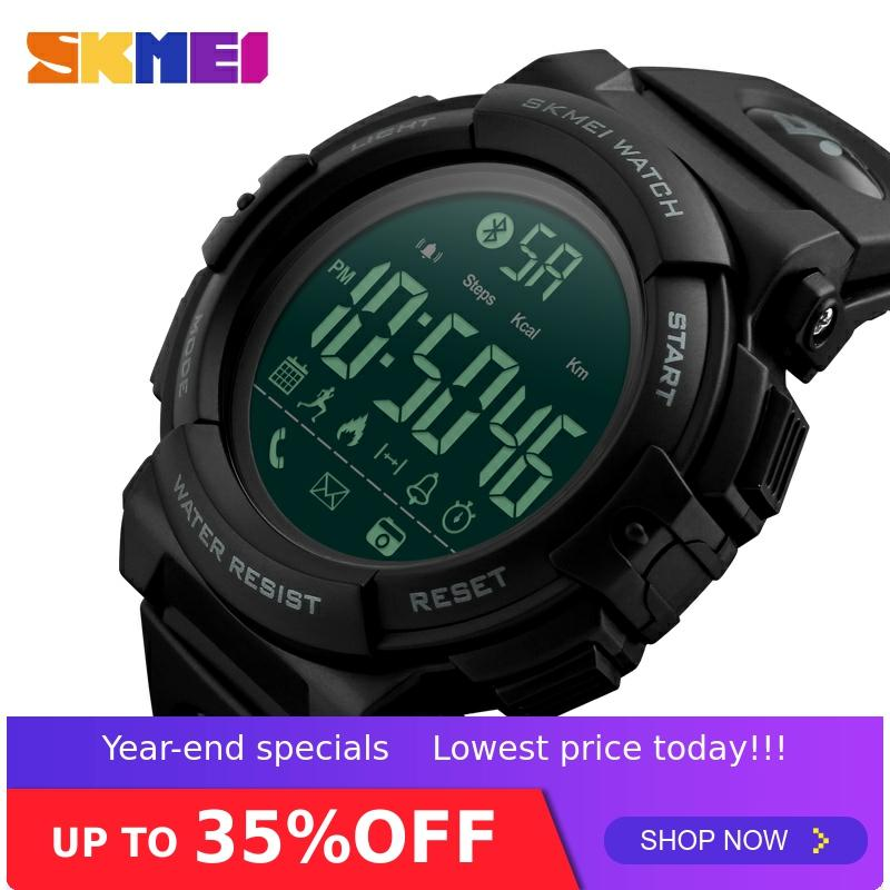 <font><b>SKMEI</b></font> Fashion Smart Watch Men Pedometer Calories Waterproof 5Bar Fitness Tracker Bluetooth Digital Watch Relogio Masculino <font><b>1303</b></font> image