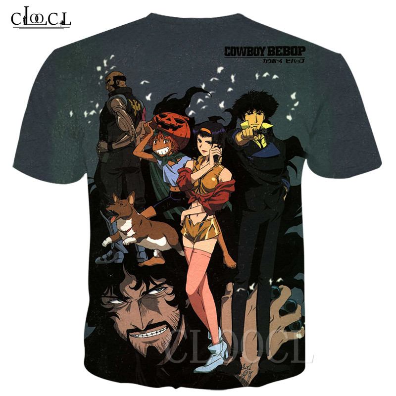 Cowboy Bebop Japanese Anime T Shirt Men Women 3D Print Spaceship Bebop T-shirts homme Casual Fashion Summer Tshirt Tee Pullovers 1