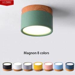 Lampy sufitowe LED nowoczesny skandynawski żelaza lampa sufitowa do salonu sypialnia dzieci pokój/korytarz korytarz reflektor LED oprawa domu