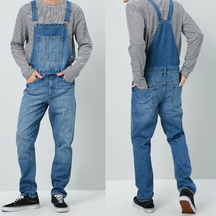 MEN'S WEAR Men Cowboy Suspender Pants Suspenders MEN'S Jeans New Style Pants One-piece Pants Men's