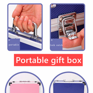 Image 4 - Portable Aluminum Alloy Suitcase Solid Watercolor Paint Oil Paints Water Color Pen Colored Pencil For Painting Gift Set Supplies