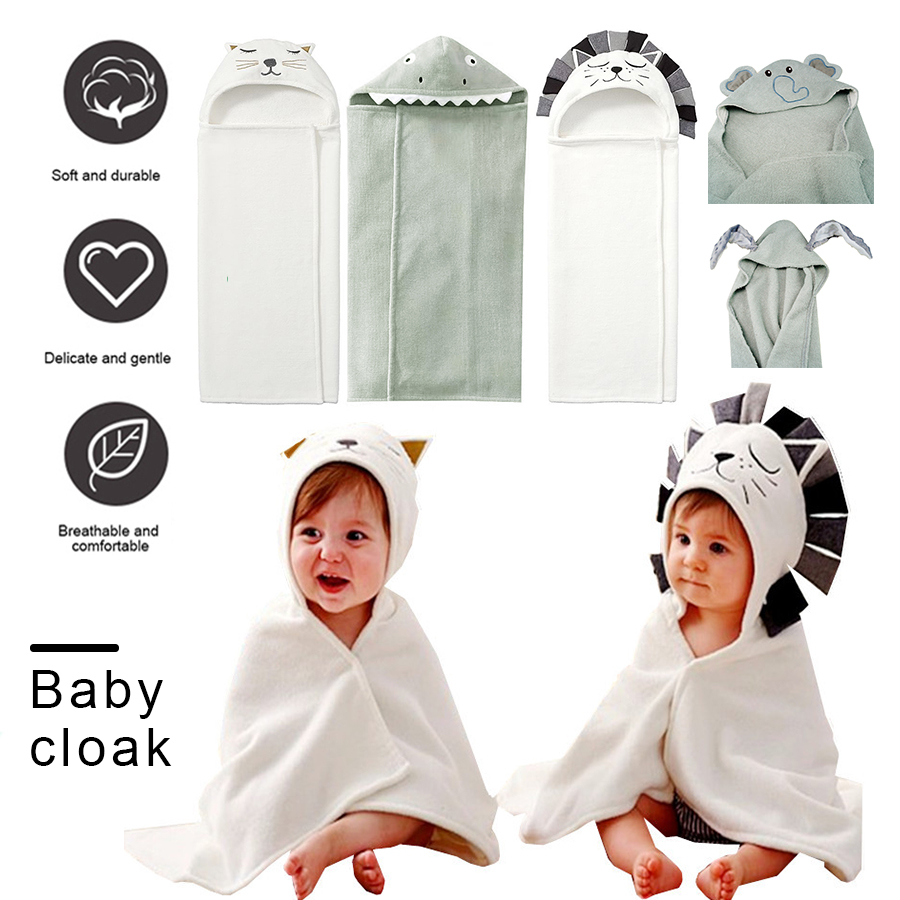 Newborn Baby 100% Cotton Hooded Towel Stuff Babies Bath Spa Blanket Towels Bath Towel Hooded Infant Beach Comfortable Soft