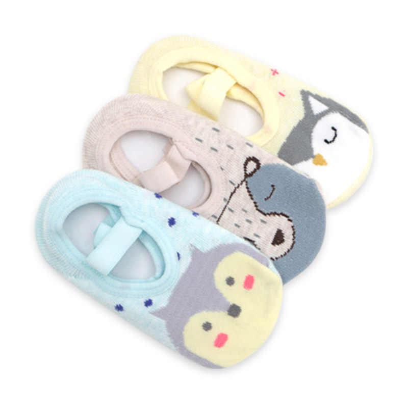 Meias do assoalho do bebê meninas meninos bonito dos desenhos animados antiderrapante algodão chão meias padrão animal primeiro walker sapatos para a criança 1-5 anos de idade