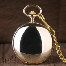 Гладкие прозрачные Механические карманные часы полностью золотого цвета для мужчин и женщин стильные ретро брелок ручной Ветер часы